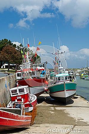 Fiskebåtar Boyardville Frankrike