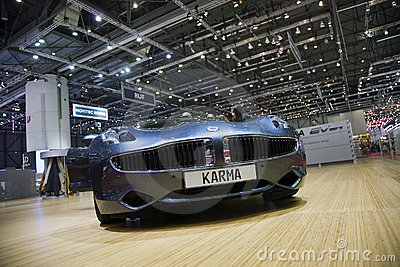Fisker Karma Plug-in Hybrid Editorial Stock Photo