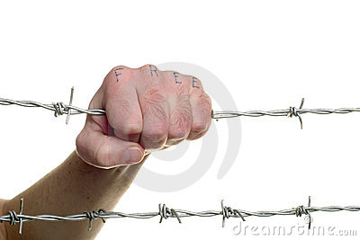 Fist & barbed wire(3)