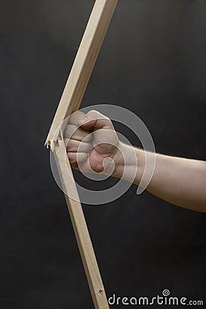 Fist braking the plank