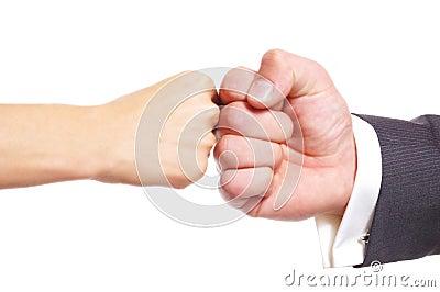 Fist clash