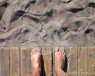 Fist day on the beach