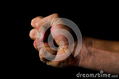 Fist - fight concept