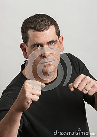 Fist fight man