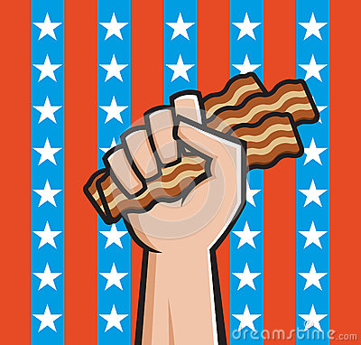 Fist Full of American Bacon