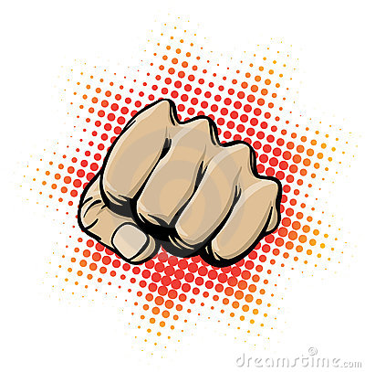 Free Fist In Action. Royalty Free Stock Photos - 21527068
