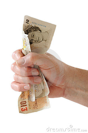 Free Fist Of Money Stock Image - 9539441