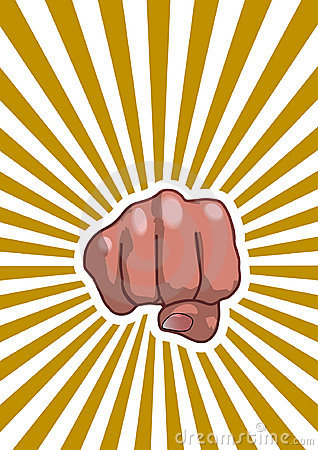 Free Fist With Rays Stock Image - 20499471