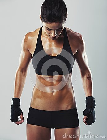 Free Fit And Young Female Bodybuilder Stock Images - 37925514