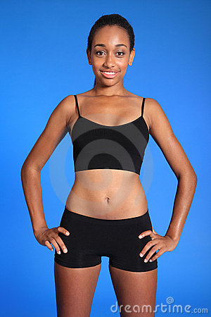 Fit athletic african american sports woman torso