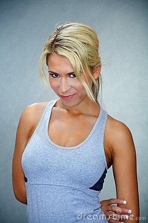 Fit athletic blond woman