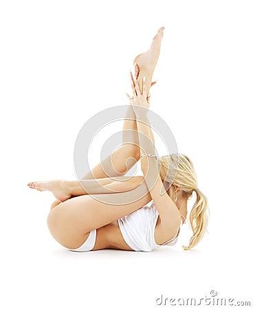 Fit blond in white underwear p