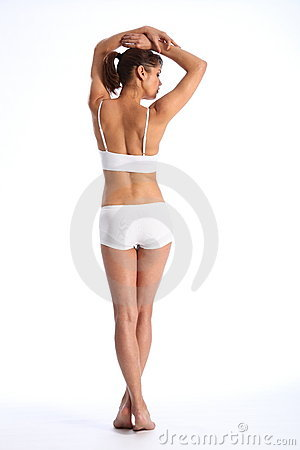 Free Fit Body Of Young Healthy Woman In From Behind Stock Images - 17841874