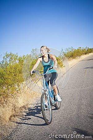Fit Female on a Bike Ride