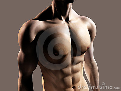 Fit man showing chest and abs