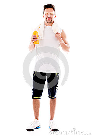 Fit man after workout