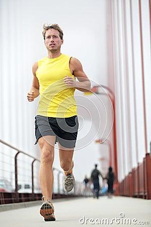 Fit runner running