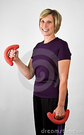 Fit Senior Women Working Out