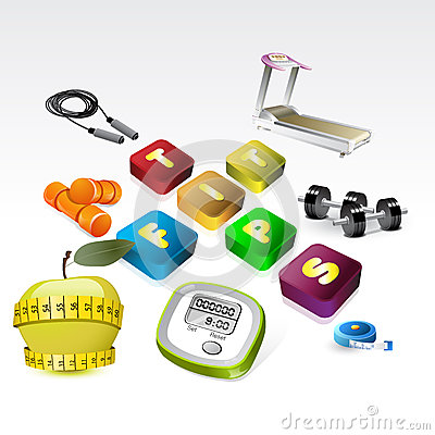 Fit tips version of fitness equipment icon