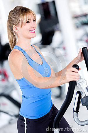 Fit woman at the gym