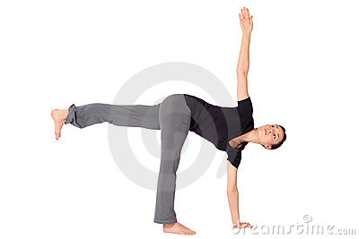 Fit Woman Practicing Yoga Exercice