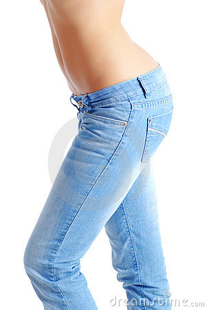 Free Fit Woman Wearing Blue Jeans Stock Photo - 7196010
