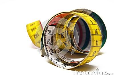 Fita de medição rolada