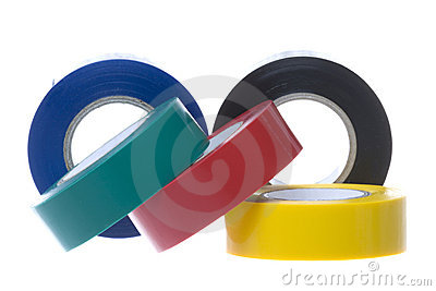 Fitas elétricas do PVC isoladas