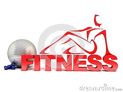Fitness 3d concept