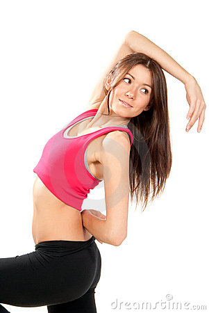 Fitness aerobic style dancer pose