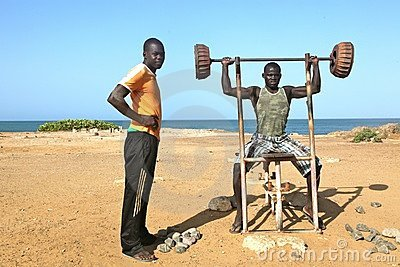 Fitness in Africa on the beach Editorial Photography