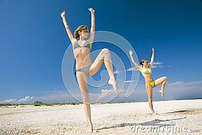 Fitness on a beach