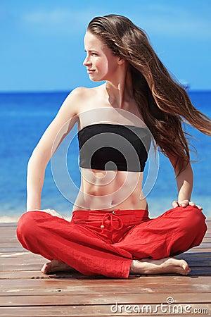 Fitness on the beach
