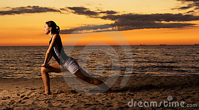 Fitness on the beach.