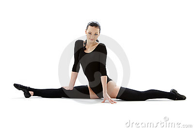 Fitness in black leotard #6