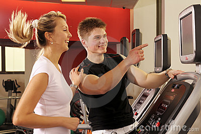 In fitness centre