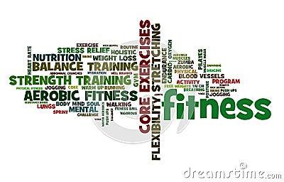 Fitness Cloud Stock Photo