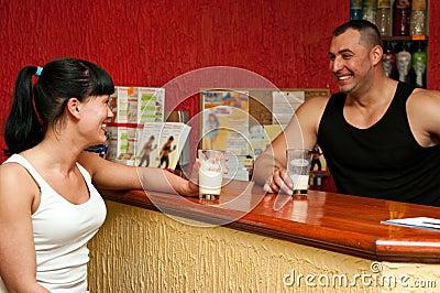 Fitness club reception desk