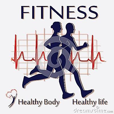 Fitness couple icon