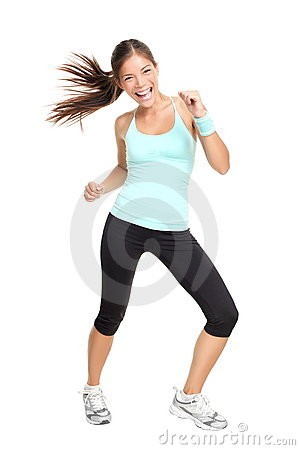 Free Fitness Dance Class Woman Dancing Stock Photos - 18764763