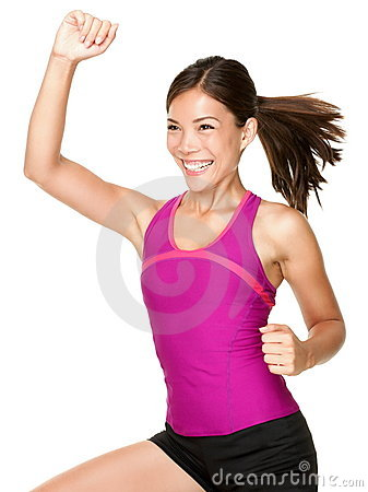 Free Fitness Dance Class Woman Dancing Stock Photos - 22028893