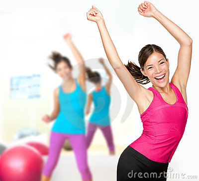 Free Fitness Dance Woman Dancing Class Royalty Free Stock Photos - 23585298