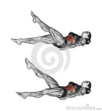 Free Fitness Exercising. Scissors Exercise. Female Stock Photography - 45721452