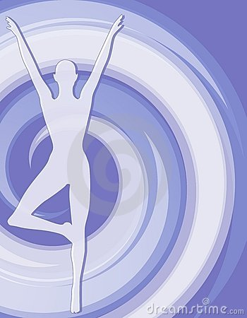 Fitness Female Silhouette Blue 2 Royalty Free Stock Photos - Image: 4364288