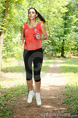 Fitness girl jogging