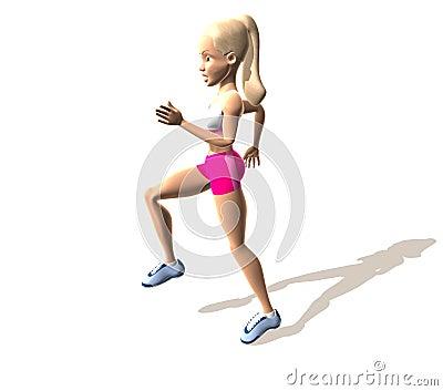 Fitness girl running