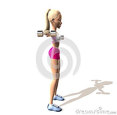 Fitness girl : shoulders