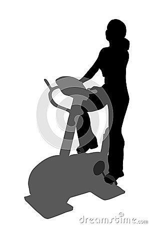 Fitness girl silhouette