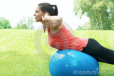 Fitness girl stretching