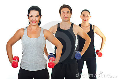 Fitness group of people